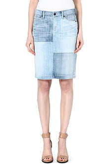 CITIZENS OF HUMANITY Patchwork pencil denim skirt