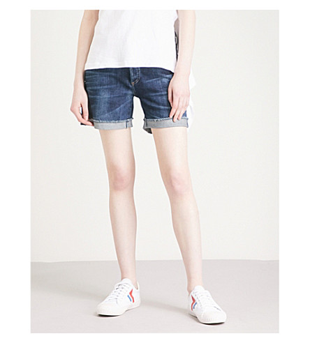 CITIZENS OF HUMANITY Skyler denim shorts (Blue+ridge