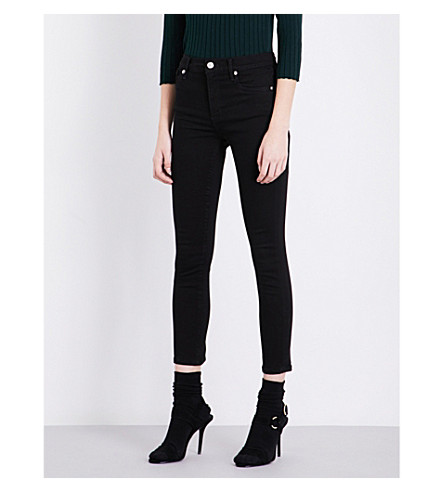 AGOLDE Sophie high-rise skinny cropped jeans (Jet