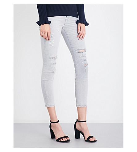 AGOLDE Sophie distressed skinny cropped high-rise jeans (Portland+destruct
