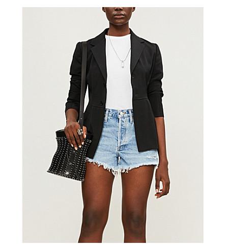 AGOLDE Parker high-rise denim shorts (Swapmeet