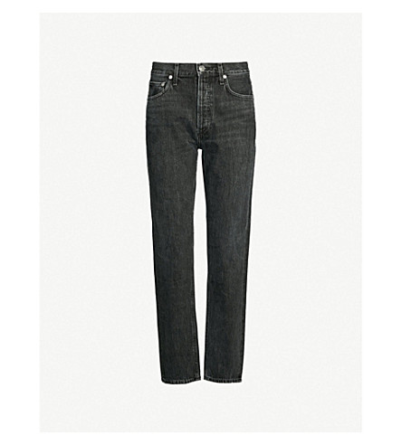 AGOLDE Jamie classic-fit high-rise jeans (Tonic