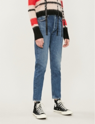 Jamie straight-leg high-rise jeans