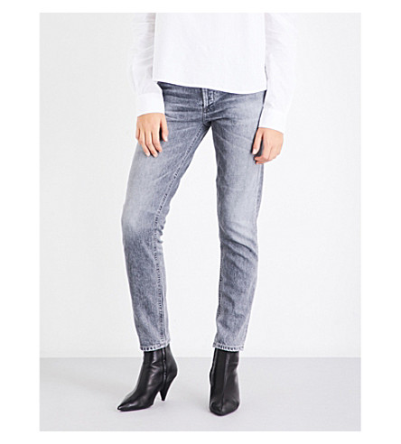 AGOLDE Jamie straight high-rise jeans (East+village