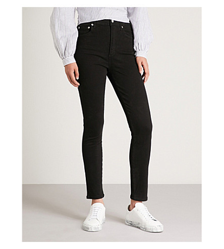 AGOLDE Roxanne skinny high-rise jeans (Jet