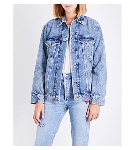 AGOLDE Jessie distressed denim jacket (Revival