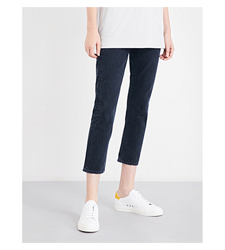 AGOLDE Riley straight cropped high-rise jeans (Hideaway