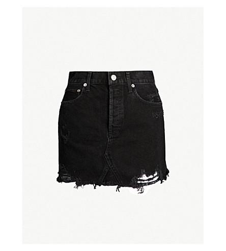 AGOLDE Quinn high-rise denim mini skirt (Cult