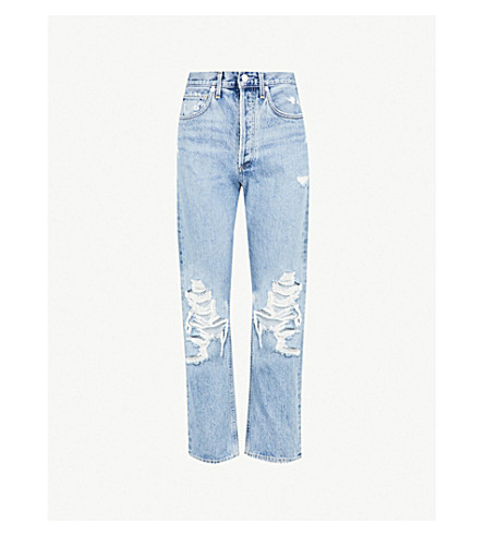 AGOLDE 90's fit straight mid-rise jeans (Fall out