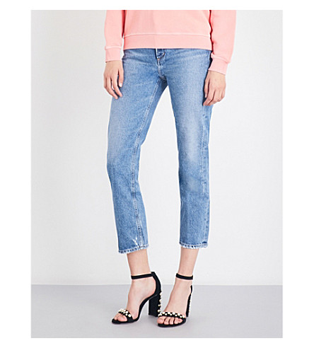 AGOLDE Cigarette straight cropped high-rise jeans (Passenger
