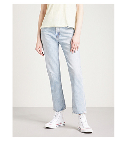 AGOLDE Cigarette straight cropped high-rise jeans (Vale