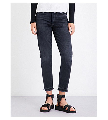 AGOLDE Jamie classic-fit high-rise jeans (Void