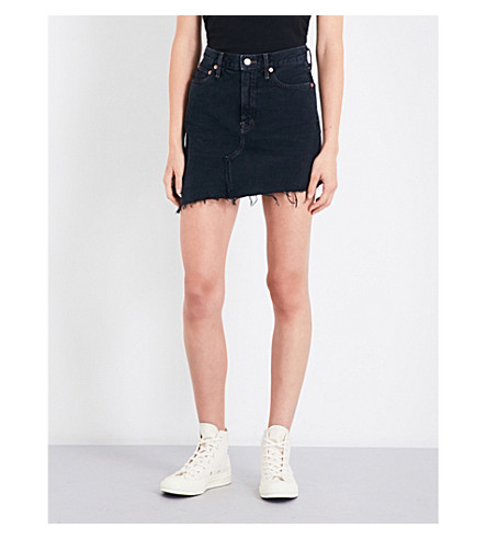 AGOLDE Retrokgrade high-rise denim mini skirt (Black+magic