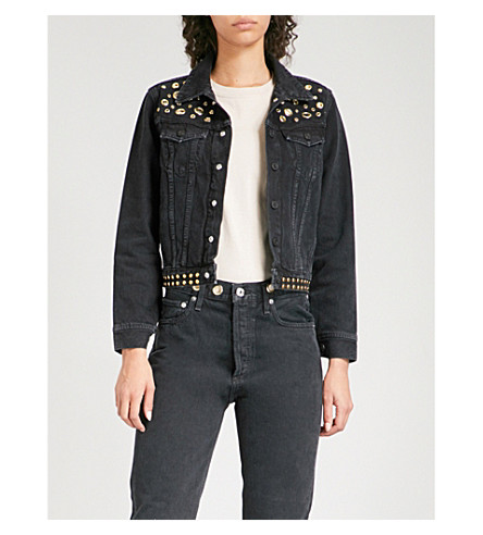 AGOLDE Reputation studded denim jacket (Studded+overtone