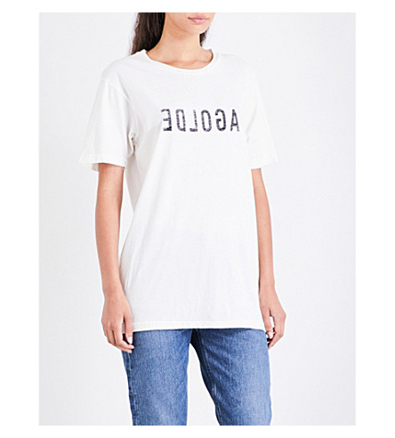 AGOLDE Graphic cotton-jersey T-shirt (White