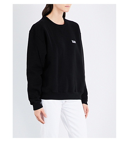 AGOLDE A$AP Ferg embroidered cotton-jersey sweatshirt (Black