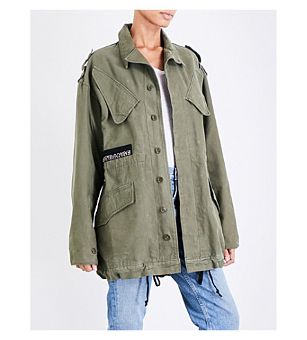 AGOLDE A$ap ferg cotton-drill jacket (Drab