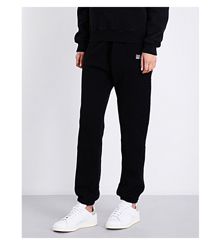 AGOLDE A$ap ferg embroidered cotton-jersey jogging bottoms (Black