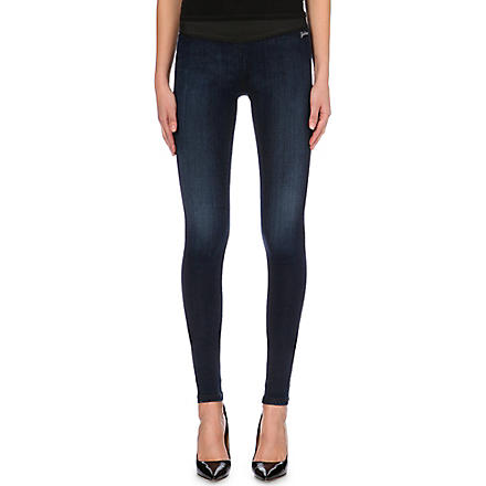 GOLDSIGN Zebra skinny mid-rise leggings (Mid+blue