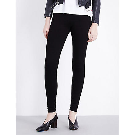 GOLDSIGN Zebra skinny mid-rise leggings (Black