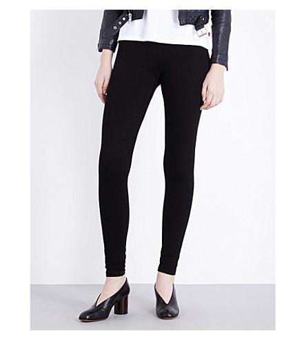 GOLDSIGN Zebra skinny mid-rise leggings (Black