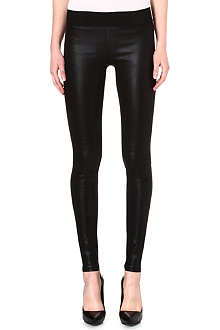 GOLDSIGN Zebra skinny coated leggings