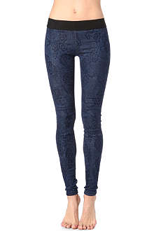 GOLDSIGN Zebra laser-print skinny mid-rise denim leggings