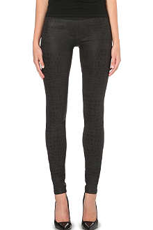 GOLDSIGN Zebra stretch-denim leggings
