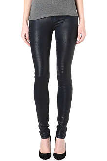 GOLDSIGN Lure coated skinny mid-rise jeans