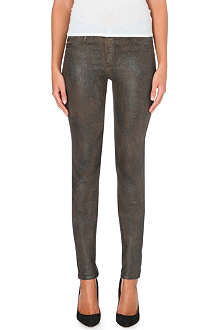 GOLDSIGN Lure skinny mid-rise coated stretch-denim jeans