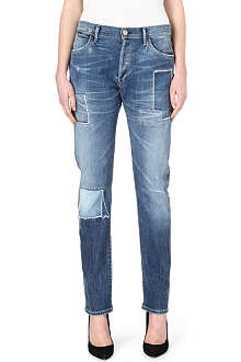 GOLDSIGN Stevie straight-leg high-rise jeans