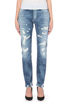 GOLDSIGN Stevie straight mid-rise jeans