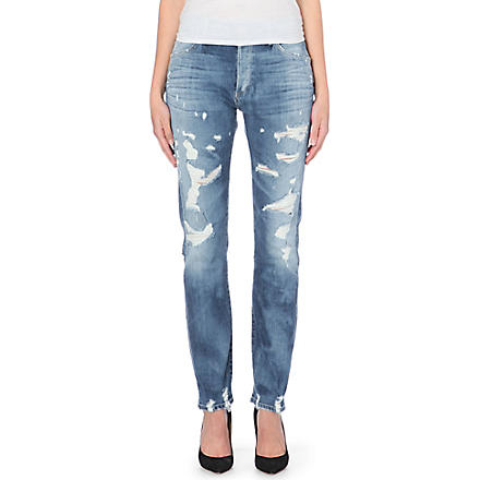 GOLDSIGN Stevie straight mid-rise jeans (Shanelle