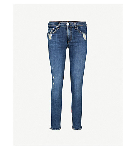 RAG & BONE Ripped skinny mid-rise jeans (La+paz