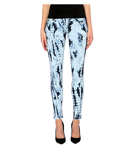 RAG & BONE The Skinny tie-dye mid-rise jeans (La rivera