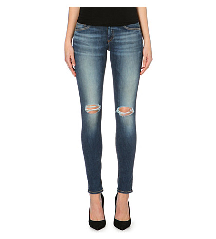 RAG & BONE The Skinny distressed mid-rise jeans (Pacifico