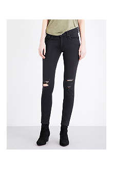 RAG & BONE The Skinny ripped mid-rise jeans