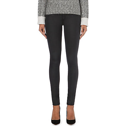 RAG & BONE Coated denim skinny mid-rise leggings (Shoreditch