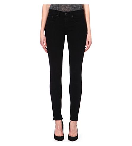 RAG & BONE Kensington skinny mid-rise jeans (Coal