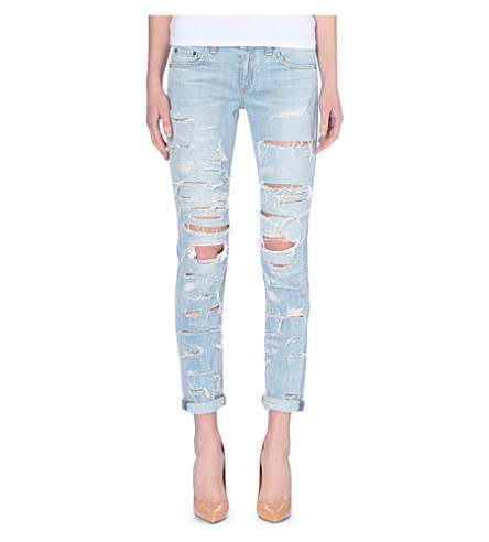 RAG & BONE The Dre skinny boyfriend mid-rise jeans (Thrasher