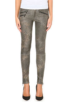 RAG & BONE Skinny mid-rise animal print trousers
