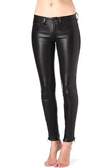 RAG & BONE Tuxedo skinny leather trousers