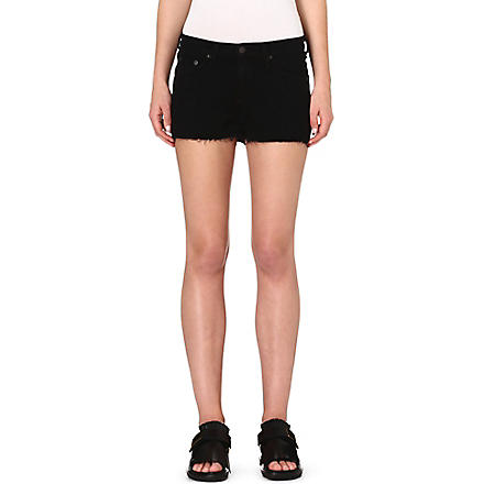 RAG & BONE Cut-off denim shorts (Coal