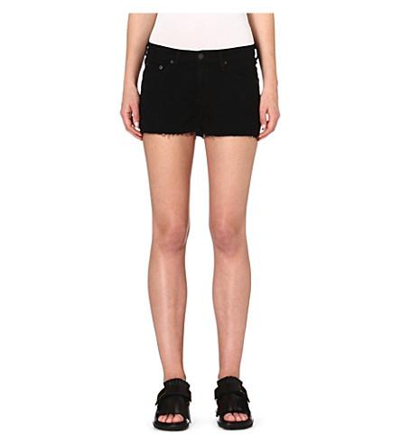 RAG & BONE Cut-off denim shorts (Coal