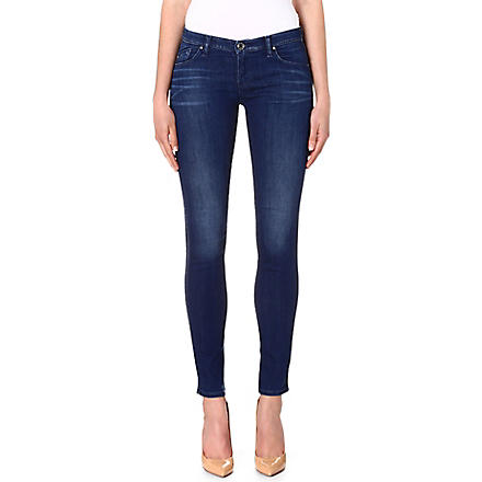 ARMANI JEANS Skinny low-rise jeans (Blue