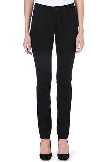 ARMANI JEANS J18 skinny mid-rise jacquard jeans