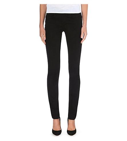ARMANI JEANS Slim high-rise stretch-denim jeans (Black