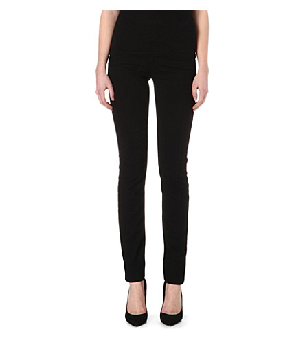ARMANI JEANS J18 skinny high-rise jeans (Black