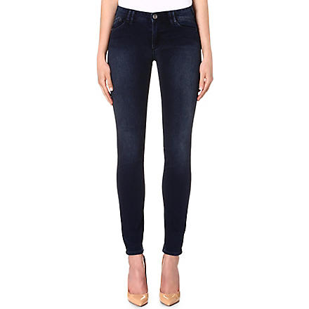ARMANI JEANS Skinny mid-rise jeans (Blue
