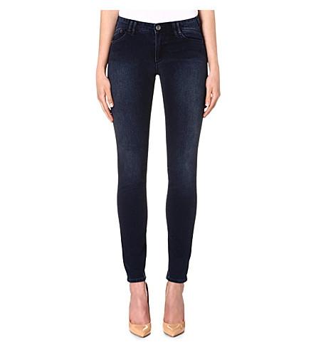 ARMANI JEANS Skinny mid-rise jeans (Blue
